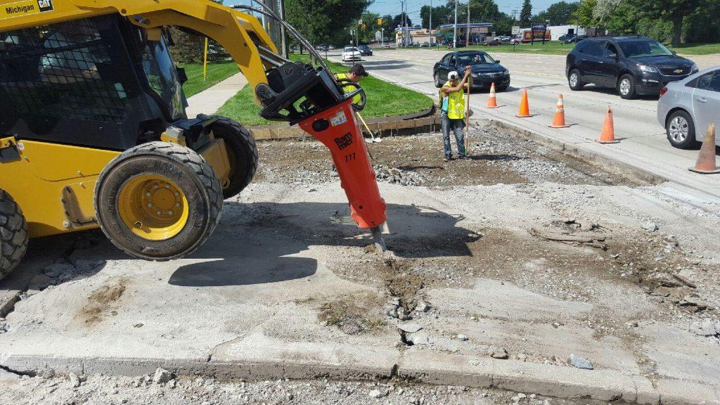 Concrete demolition and hauling